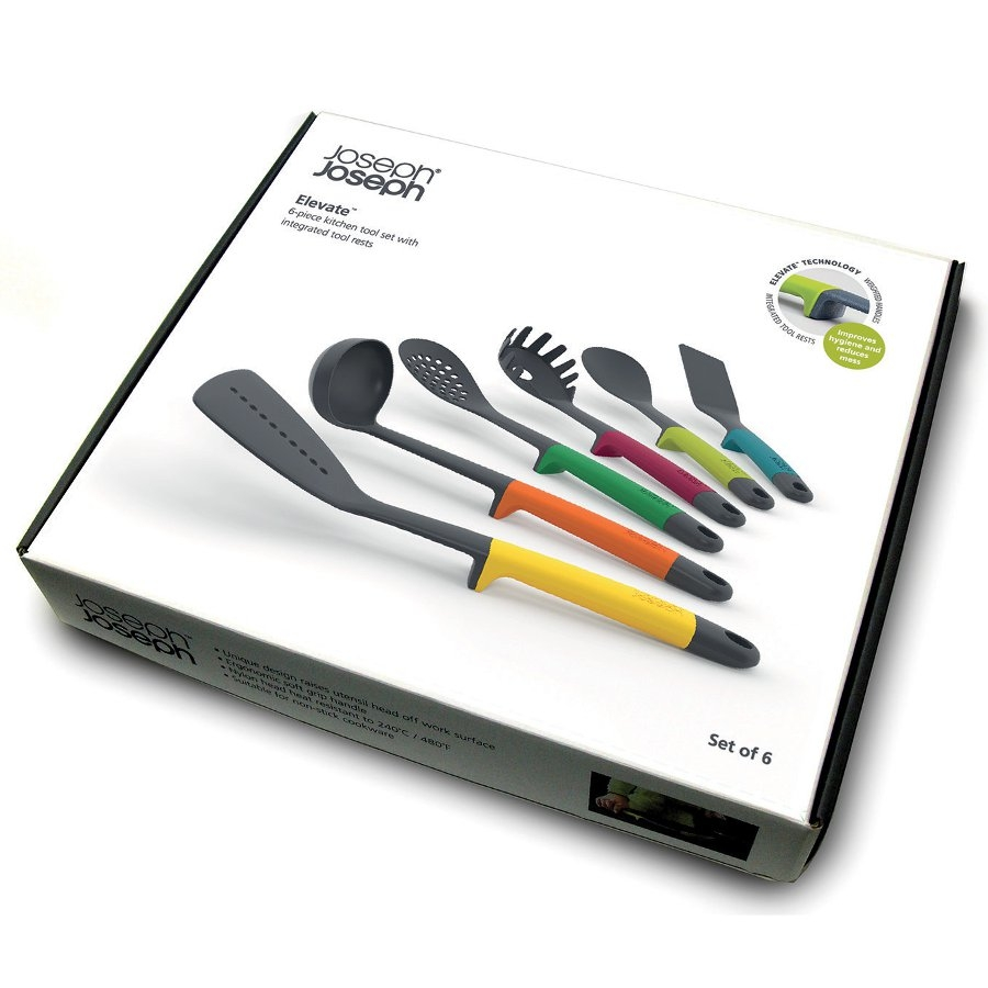 Joseph joseph elevate 6 piece kitchen tool set from for Ustensile cuisine design