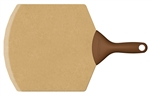 "epicurean 21"" x 14"" natural pizza peel with brown handle"