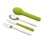 joseph joseph green goeat compact stainless steel cutlery set