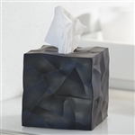 essey black wipy tissue box cover