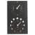 ashortwalk recycled moon & tide clock