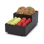 rosseto small condiment matt black tray bakery building block