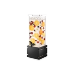 rosseto 2 galon square beverage dispenser with black gloss bamboo base