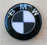 BMW WHITE & BLACK CARBON EMBLEM