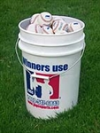 JUGS PEARL BUCKET with 4 Dozen Baseballs