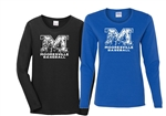 Mooresville Baseball Womens Long Sleeve tee