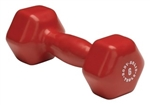 Body Solid Vinyl Dumbbell 6 lb. Red Image