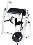 Hammer Strength ISO P/L Bicep Curl White w/Black UPH Image