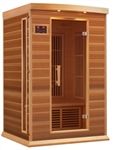 GoldenDesigns MX-K206-01 Red Cedar LEMF Maxxus Far IR Sauna | Image