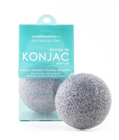 Bamboo Charcoal Konjac Sponge For Oily & Acne Prone Skin