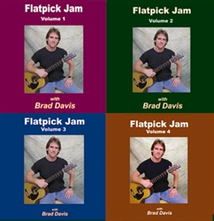 Flatpick Jam CD - Volumes 1, 2, 3 & 4 CD Set - Brad Davis