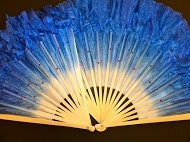 Solid Color Silk Fan Pair