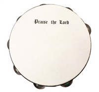 10 inch Praise The Lord Tambourine (Single Row Jingle).