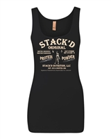 STACK'D Vintage Ladies Jersey Tank - Black