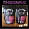 2 Bags of STACK'D Original Buttermilk Limited Edition PINK Protein Protein Pancakes (1 lb)