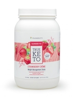 Youngevity Slender FX™ True Keto Strawberry Créme Shake ketogenic diet meal replacement keto recipes