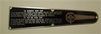 A2347P Wheel Wrench Instruction Plate