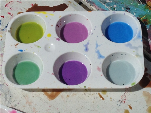 6 well watercolor palette