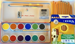 Watercolor Qpaque Set, Drawing Set & Color Pencils