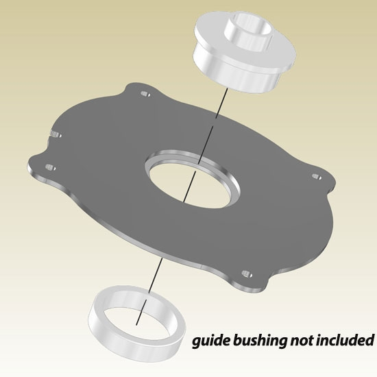 Incra magnalock porter cable guide bushing ring for How to use router template guide bushings