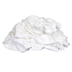 Recycled White T-Shirt Rags