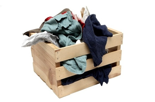 Reclaimed colored t shirt rags 25lb box ragsco recycled rags for T shirt rags bulk