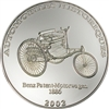2002 10 Francs Historical Cars: 1886 Benz Patent-Motorwagen (Congo) - Pure Silver Coin