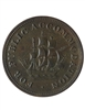 Lower Canada 1/2 Penny Token 1830 LC-14B EF-40