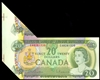 $20 1969 Fold and Cut Error Note BC-50a Beattie-Rasminsky Prefix EA