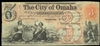 US $3 Obsolete 1857 Nebraska Territory Omaha City Non-Certified VF-20
