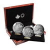 2015 $125 Conservation Series - 15 oz. Pure Silver 3 Coin Set in Display Case