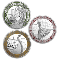 2018 $20 Norse Figureheads Series Subscription - Pure Silver Coin