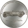 2003 10 Francs Historical Cars IV: 1927 Isotta Fraschini Type 8A (Congo) - Pure Silver Coin