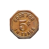 Canada 5 cents Mary Anne Social Barbotte Club Inc. Token VF+