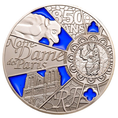 France 2013 10 Euro Silver Proof Coin - Notre Dame Silver Commemorative