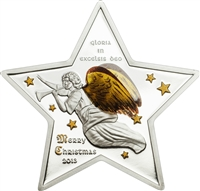2013 $5 Merry Chistmas: Gloria in Excelsis Deo - Pure Silver 3D Coin