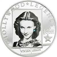 2014 $5 Hollywood Legends: Vivien Leigh - Sterling Silver Coin