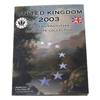Great Britain 2003 2 Pounds Unc Set - Euro Type Pattern Collection