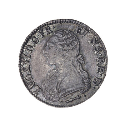 France Ecu 1781 Louis XVI Cow EF-40