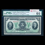 The Imperial Bank of Canada $5 1933  PMG CUNC-64