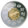 $15 1999 Silver Coin - Year of the Rabbit