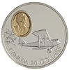$20 1992 Silver Coin - de Havilland Gipsy Moth
