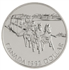 $1 1992 Brilliant Uncirculated Silver Coin - Kingston to York Stagecoach