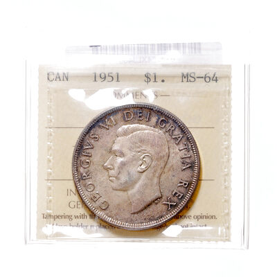 1 Dollar 1951 FWL ICCS MS-64