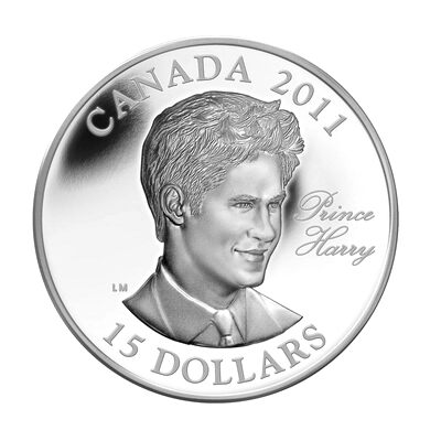 $15 2011 Ultra High Relief Silver Coin - Prince Harry (single)
