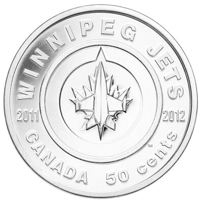 50c 2011 Coin - Winnipeg Jets