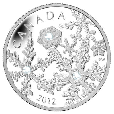 $20 2012 Fine Silver Coin - Holiday Snowstorm