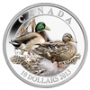 $10 2013 Fine Silver Coloured Coin - Ducks of Canada - Mallard