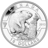 $10 2013 Fine Silver Coin - O Canada Series - The Beaver