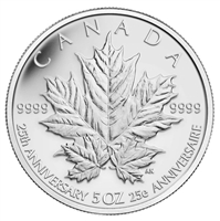 2013 $50 Fine Silver Coin - 25th Anniversary of the Silver Maple Leaf Coin (Discounted)